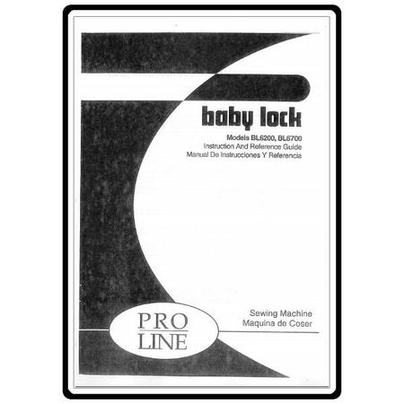 Instruction Manual, Babylock BL6200