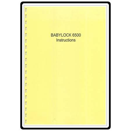 Instruction Manual, Babylock BL6500