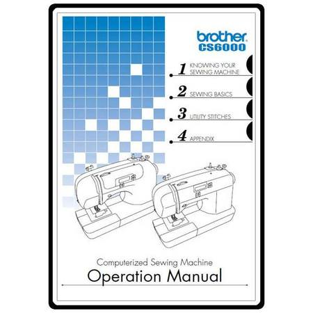 Instruction Manual Brother CS40 Sewing Parts Online Stunning Brother Sewing Machine Cs 6000