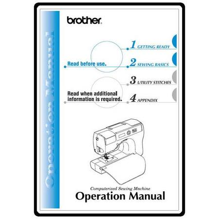 Instruction Manual, Brother CS-8150