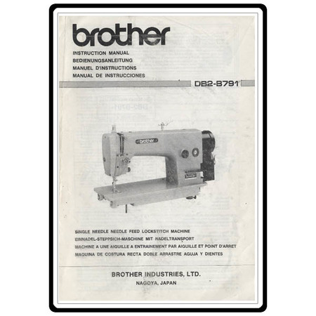 Instruction Manual, Brother DB2-B791