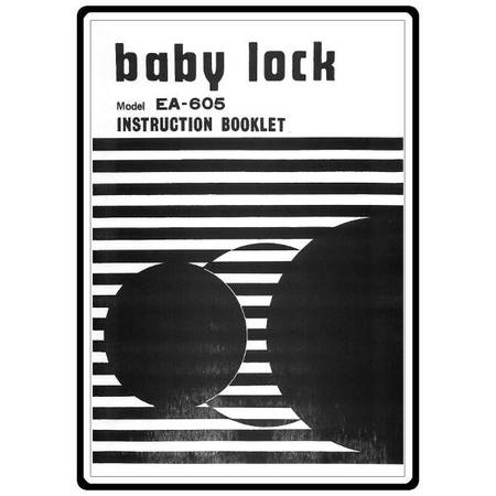 Instruction Manual, Babylock EA-605
