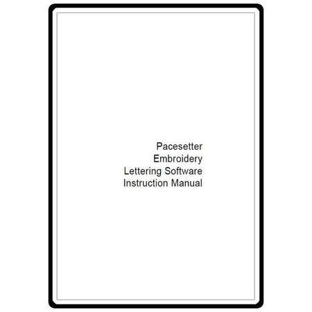 Instruction Manual, Brother ELS Lettering