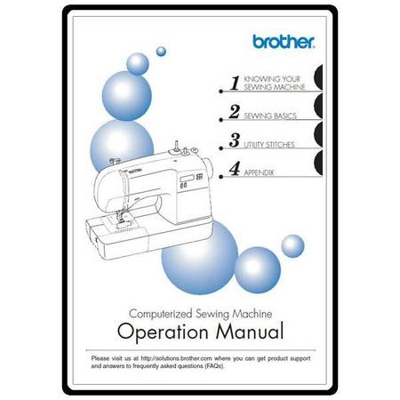 Instruction Manual, Brother HS-2000