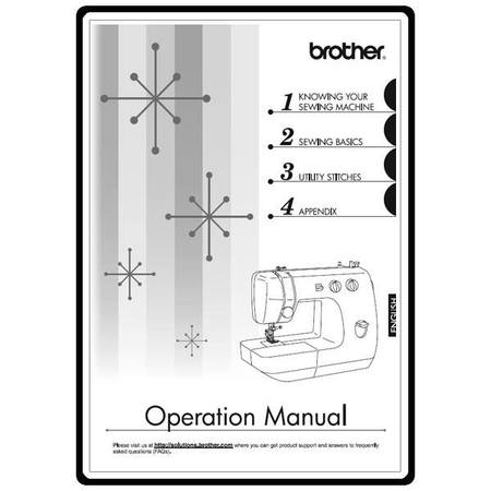 Instruction Manual, Brother LS-2000