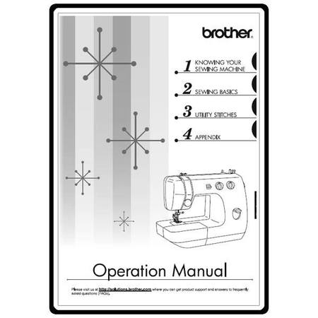 Instruction Manual, Brother LS2250PRW