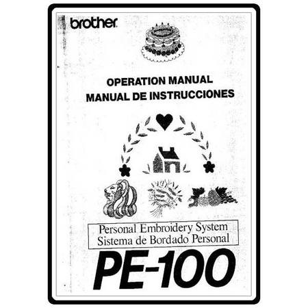 Instruction Manual, Brother PE-100
