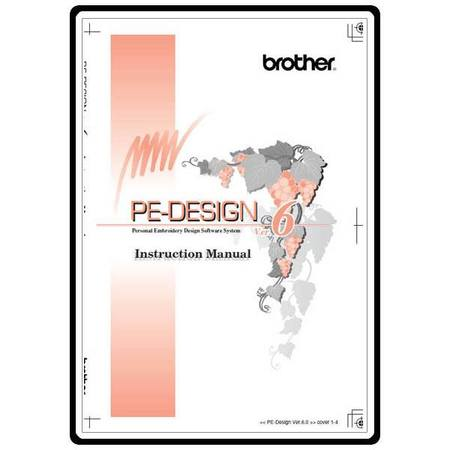 Instruction Manual, Brother PEDESIGN 6.0