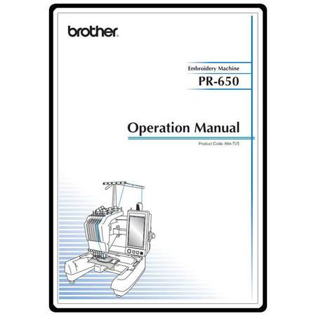 Instruction Manual, Brother Entrepreneur PR-650