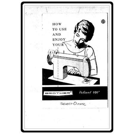 Instruction Manual, Brother Valiant 930