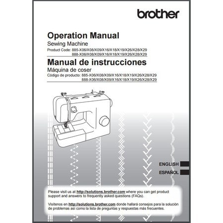 Instruction Manual, Brother BM2800
