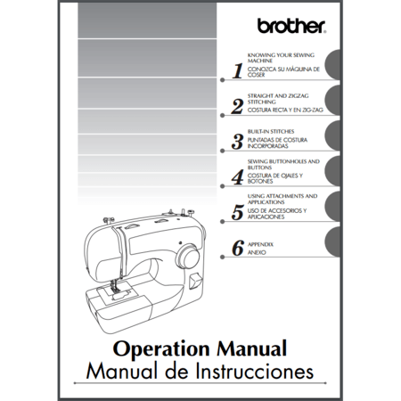 Instruction Manual, Brother BM3600AS