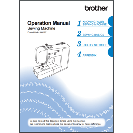 Instruction Manual, Brother CE8100