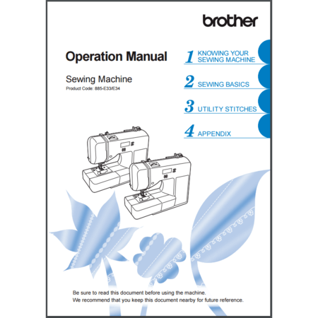 Instruction Manual, Brother CS7130