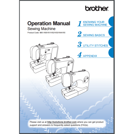 Instruction Manual, Brother CS8800PRW