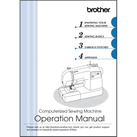 Instruction Manual, Brother CS9100