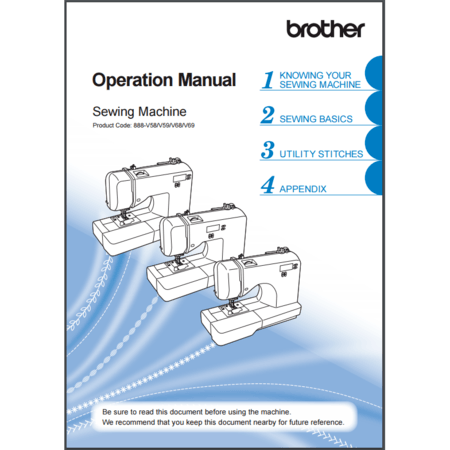 Instruction Manual, Brother DZ2750