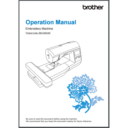 Instruction Manual, Brother NQ1400E