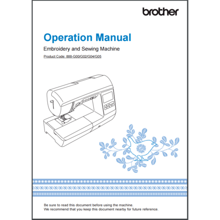 Instruction Manual, Brother NQ3500D