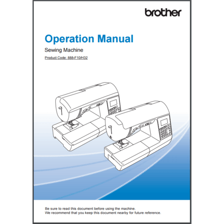 Instruction Manual, Brother NQ550PRW