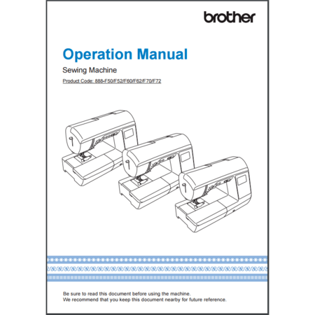 Instruction Manual, Brother NQ700PRW