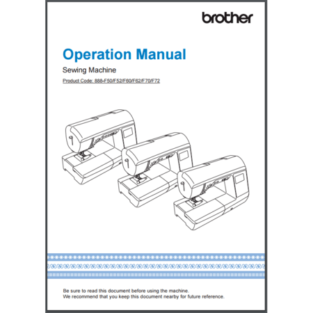 Instruction Manual, Brother NQ900PRW