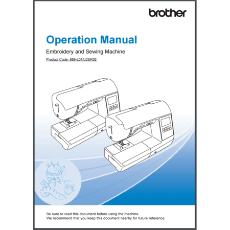 Instruction Manual, Brother NS2750D