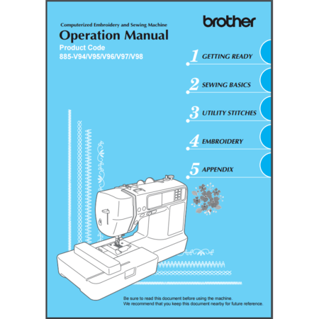 Instruction Manual, Brother NV990D