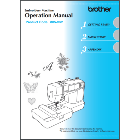 Instruction Manual, Brother PE540D
