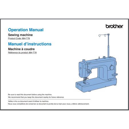 Instruction Manual, Brother PQ1500SLPRW