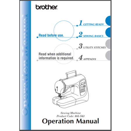 Instruction Manual, Brother SB3129