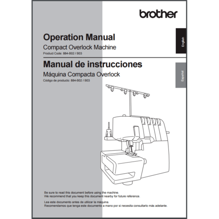 Instruction Manual, Brother SB3734T