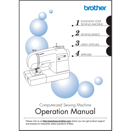 Instruction Manual, Brother SB700T