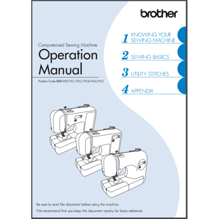 Instruction Manual, Brother SC707