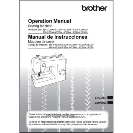 Instruction Manual, Brother SM2700