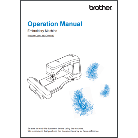 Instruction Manual, Brother VE2200