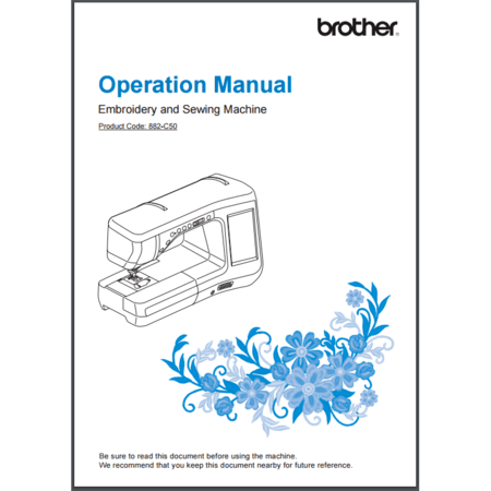 Instruction Manual, Brother VM5100