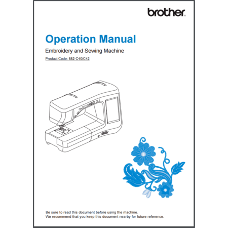 Instruction Manual, Brother VM6200D