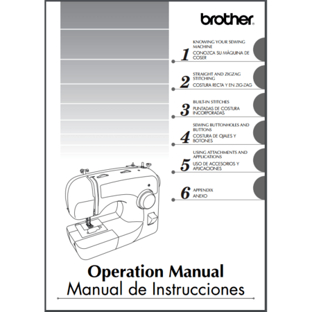 Instruction Manual, Brother XL3500T