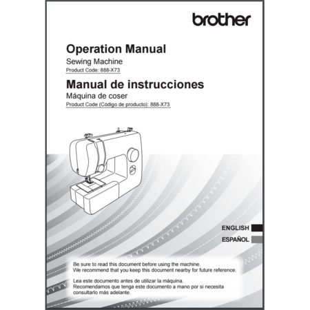 Instruction Manual, Brother XM1010