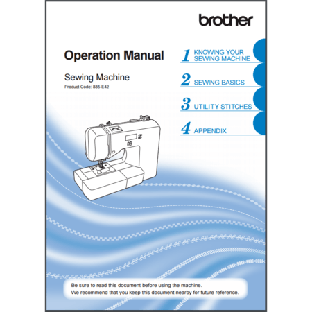 Instruction Manual, Brother XR3240