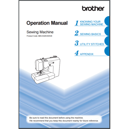 Instruction Manual, Brother XS2070