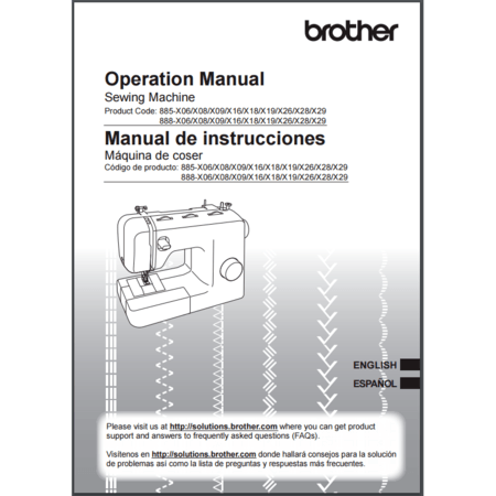 Instruction Manual, Brother XS37