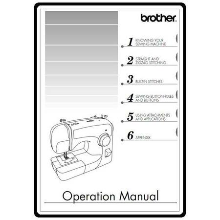 Instruction Manual Brother XL40 Sewing Parts Online Adorable Brothers Sewing Machine Manual