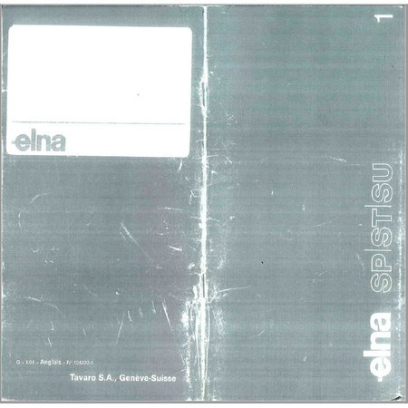 Instruction Manual, Elna Super 62