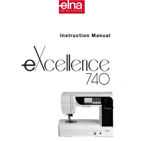 Instruction Manual, Elna 740