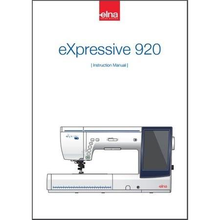 Instruction Manual, Elna eXpressive 920