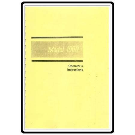 Instruction Manual, Elna 1000