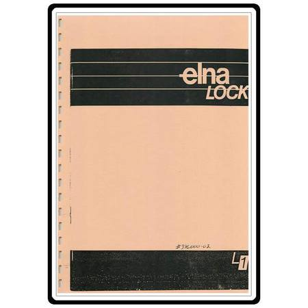 Instruction Manual, Elna L1 Serger