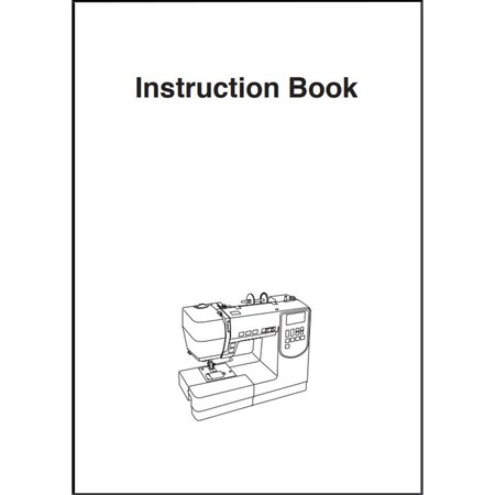 Instruction Manual, Janome 6100
